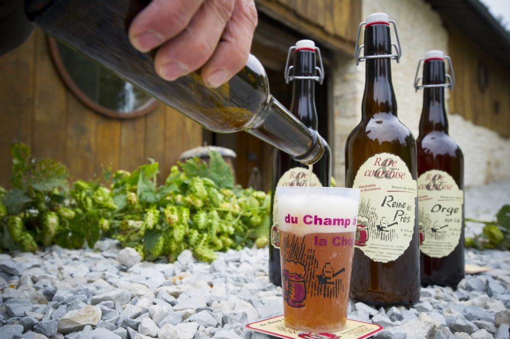 La rarécourtoise, bière fermière fabriquée à la ferme de la vallée à Rarécourt Argonne Meuse