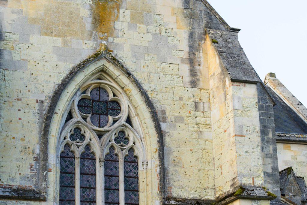 Rosace de l'abbaye cistercienne de Lachalade