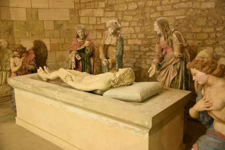 Sépulcre dans l'église Saint-Didier à Clermont en Argonne Meuse