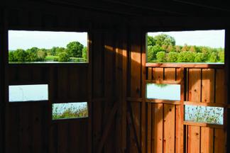Vue de l'étang des Bercettes depuis le poste d'obervation Argonne Meuse