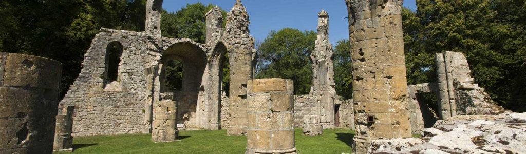 Ruines de la collégiale Saint Germain à Montfaucon d'Argonne