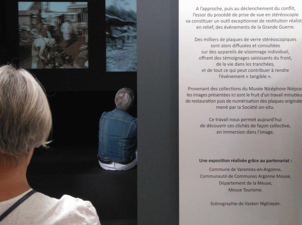 Découvrez la nouvelle exposition du musée d'Argonne à Varennes en Argonne Meuse : la Grande guerre en 3D